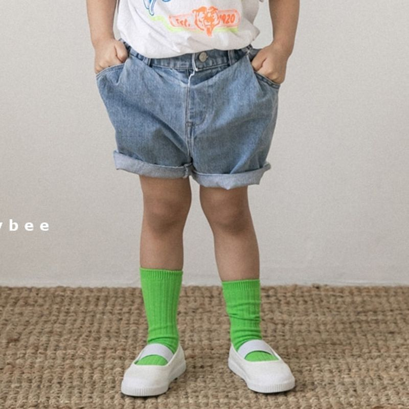 HONEYBEE - BRAND - Korean Children Fashion - #Kfashion4kids - Denim Short Pants