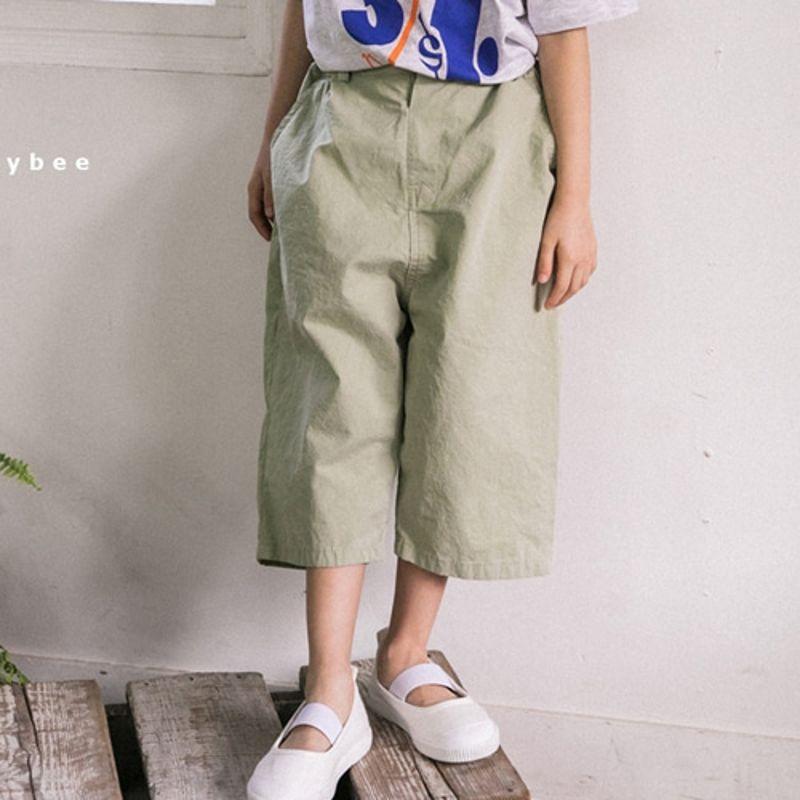 HONEYBEE - BRAND - Korean Children Fashion - #Kfashion4kids - Midi Wide Pants