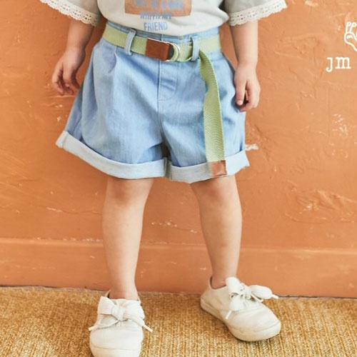 JM SNAIL - BRAND - Korean Children Fashion - #Kfashion4kids - Denim Short Pants