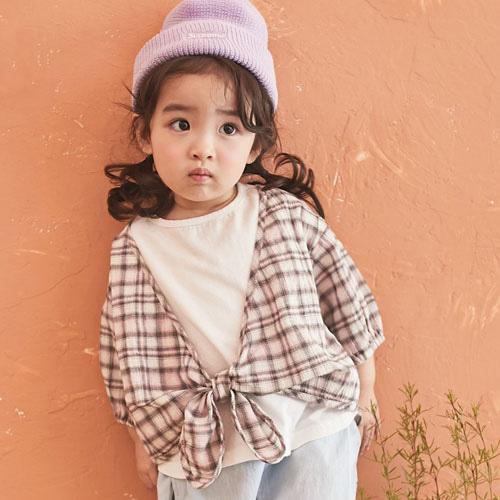 JM SNAIL - BRAND - Korean Children Fashion - #Kfashion4kids - Check Blouse