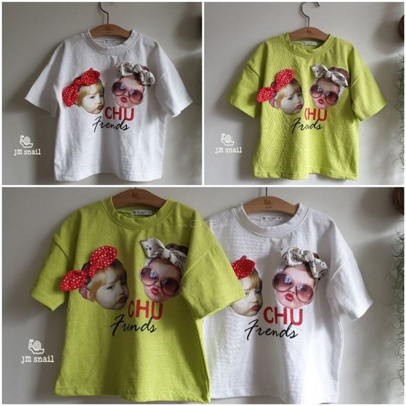 JM SNAIL - Korean Children Fashion - #Kfashion4kids - Chu Ribbon Tee