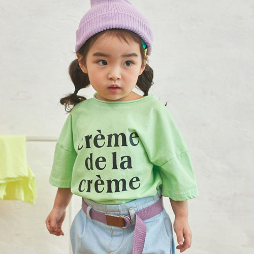 JM SNAIL - BRAND - Korean Children Fashion - #Kfashion4kids - Crème Print Tee