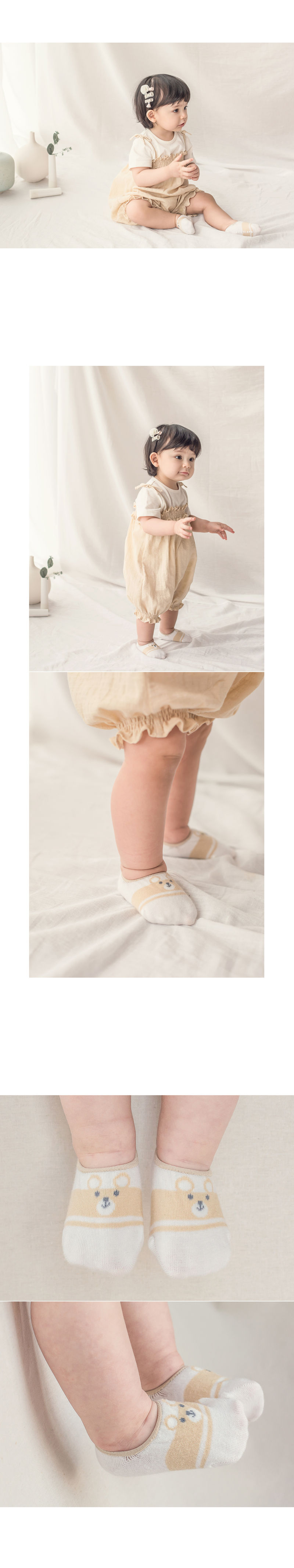 KIDS CLARA - Korean Children Fashion - #Kfashion4kids - Truii Summer Low Cut Socks [set of 5] - 4