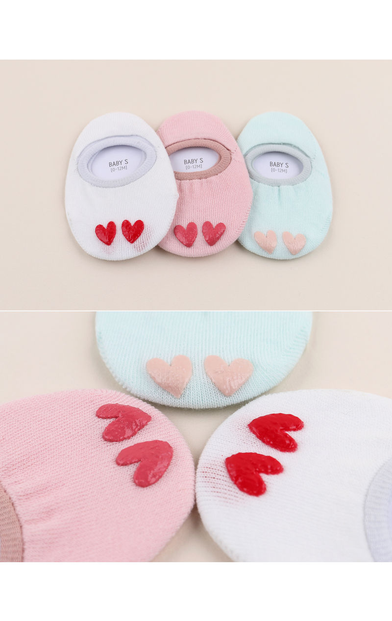 KIDS CLARA - Korean Children Fashion - #Kfashion4kids - Love I Socks [set of 5] - 3