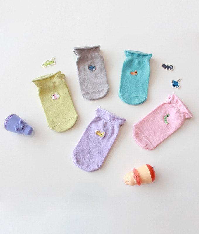KOKACHARM - BRAND - Korean Children Fashion - #Kfashion4kids - Dear My Friend Socks [set of 5]