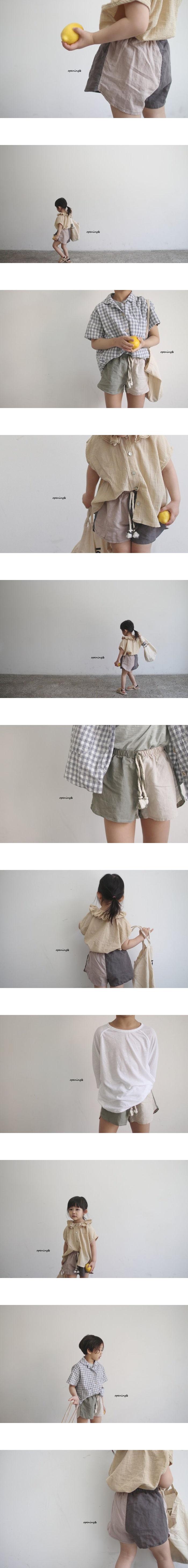 OPENING & - Korean Children Fashion - #Kfashion4kids - Half Half Pants