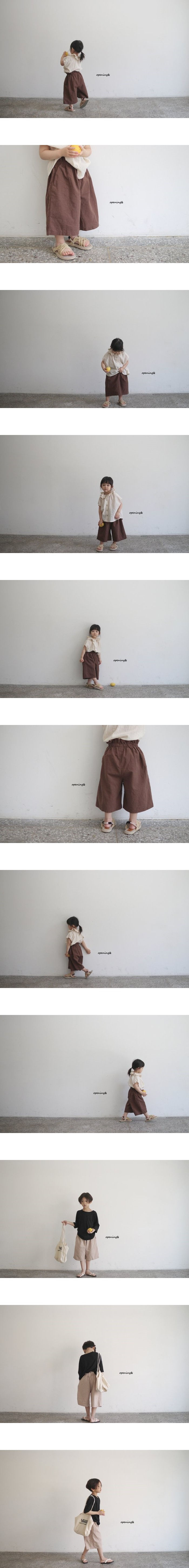 OPENING & - Korean Children Fashion - #Kfashion4kids - Go Go Slub Pants