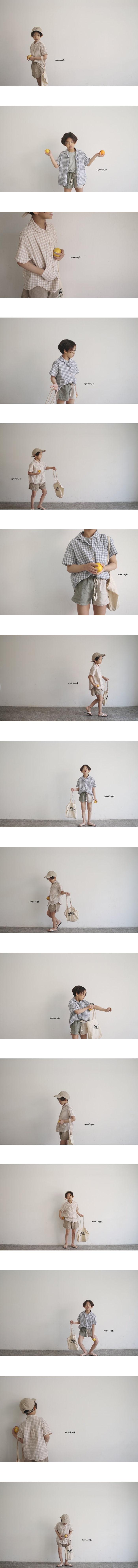 OPENING & - Korean Children Fashion - #Kfashion4kids - Kero Check Shirt