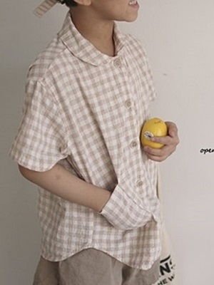 OPENING & - BRAND - Korean Children Fashion - #Kfashion4kids - Kero Check Shirt