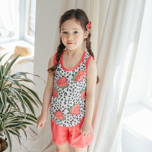 PUCO - BRAND - Korean Children Fashion - #Kfashion4kids - Leopard Watermelon Easywear