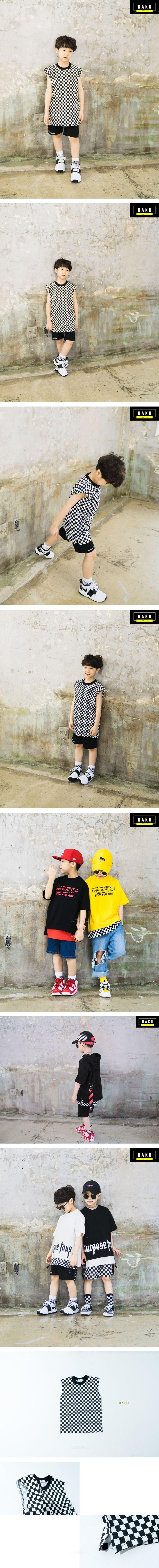 RAKU - Korean Children Fashion - #Kfashion4kids - Check Sleeveless Top