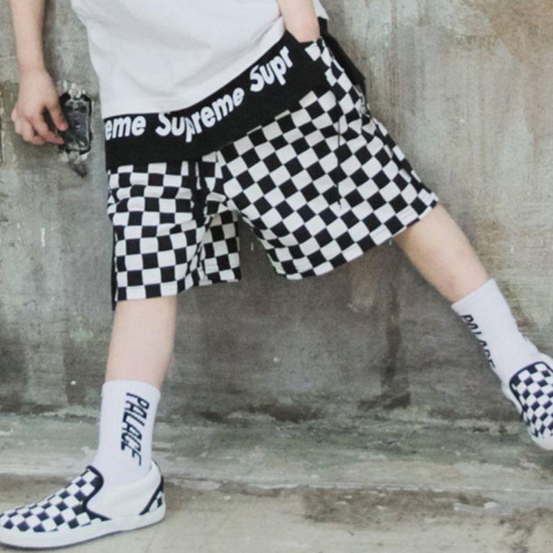 RAKU - BRAND - Korean Children Fashion - #Kfashion4kids - Checker Pants