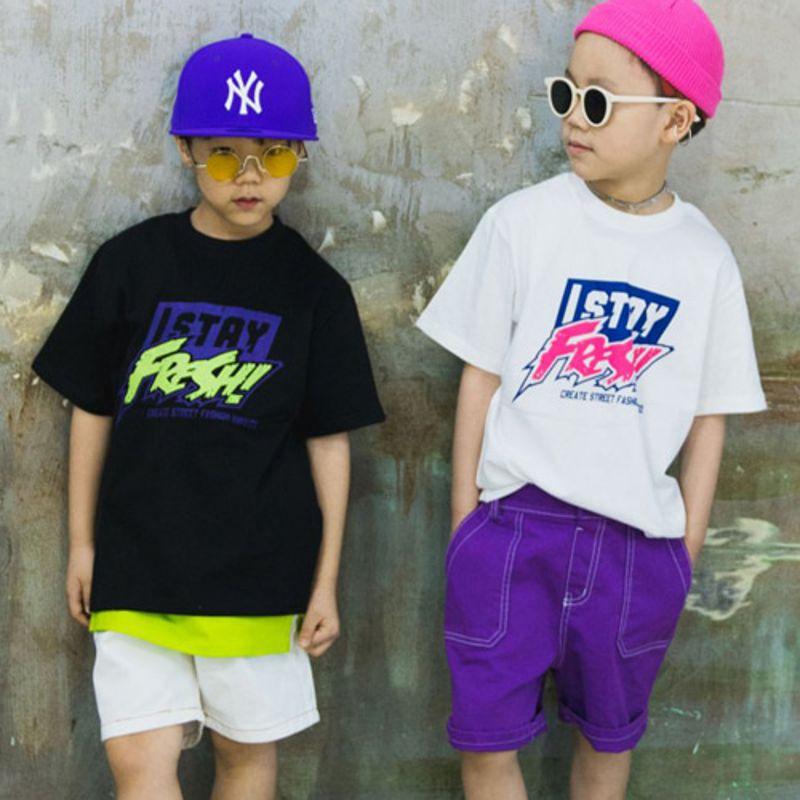 RAKU - BRAND - Korean Children Fashion - #Kfashion4kids - Frech Tee