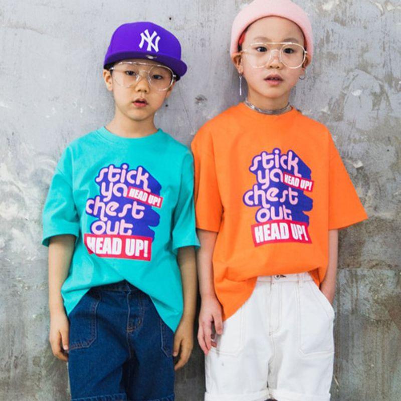 RAKU - BRAND - Korean Children Fashion - #Kfashion4kids - Head Up Tee