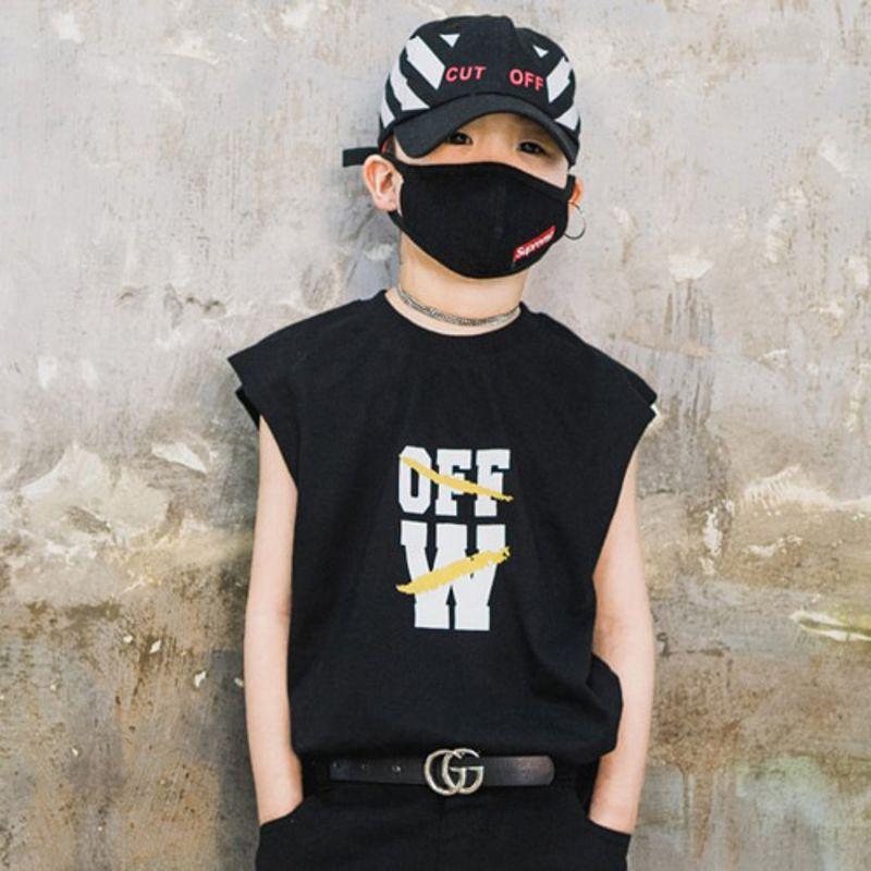 RAKU - BRAND - Korean Children Fashion - #Kfashion4kids - W Sleeveless Top