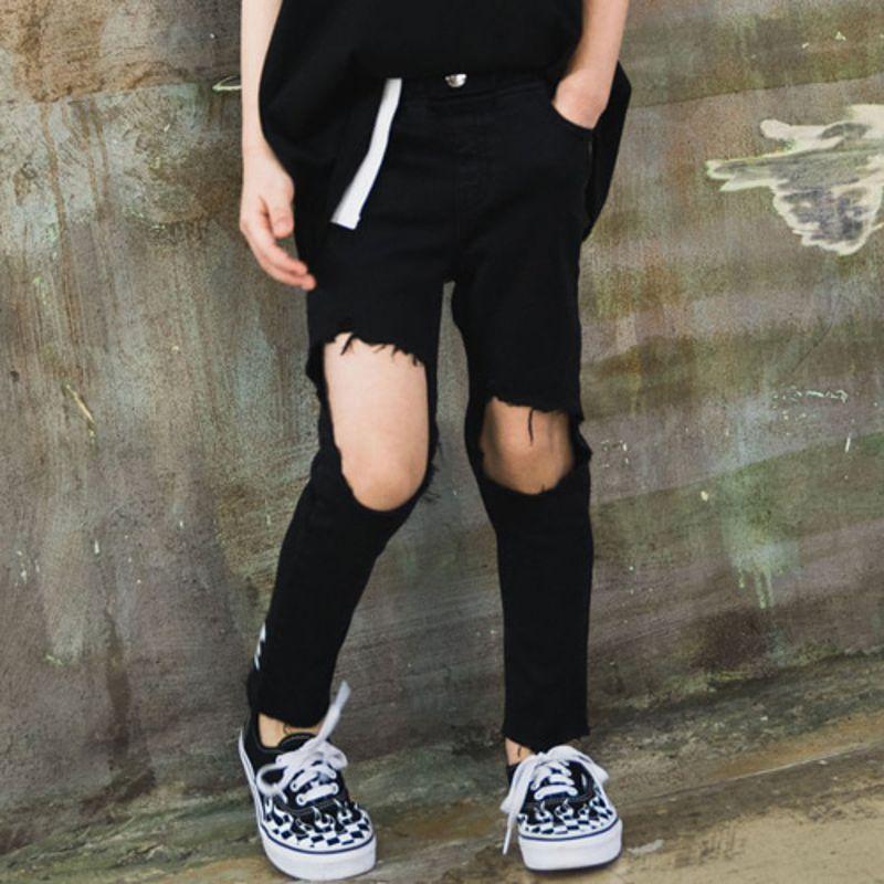 RAKU - BRAND - Korean Children Fashion - #Kfashion4kids - Self Skinny Pants