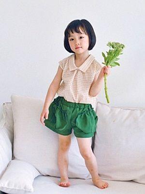 WANDOOKONG - BRAND - Korean Children Fashion - #Kfashion4kids - Mina Check Sleeveless Top
