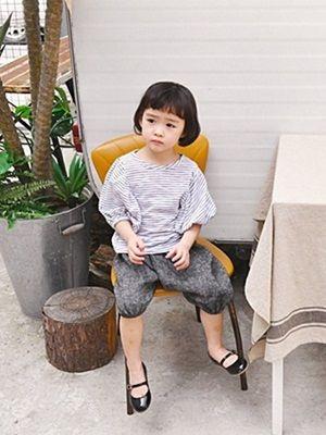 WANDOOKONG - BRAND - Korean Children Fashion - #Kfashion4kids - Clare Stripe Tee