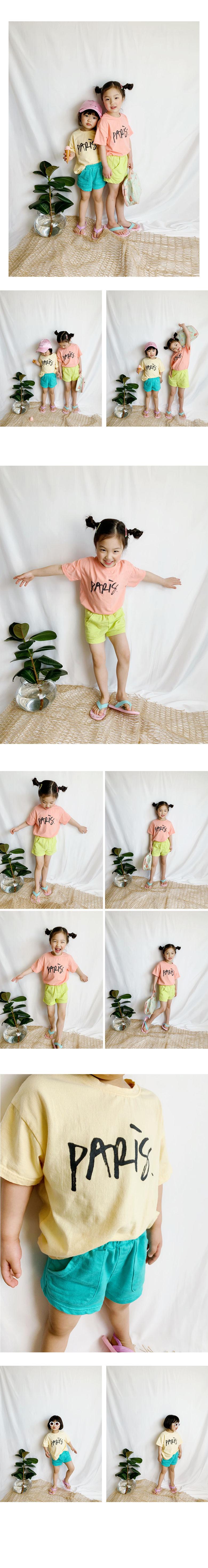 WHITESKETCHBOOK - Korean Children Fashion - #Kfashion4kids - Paris Half Tee