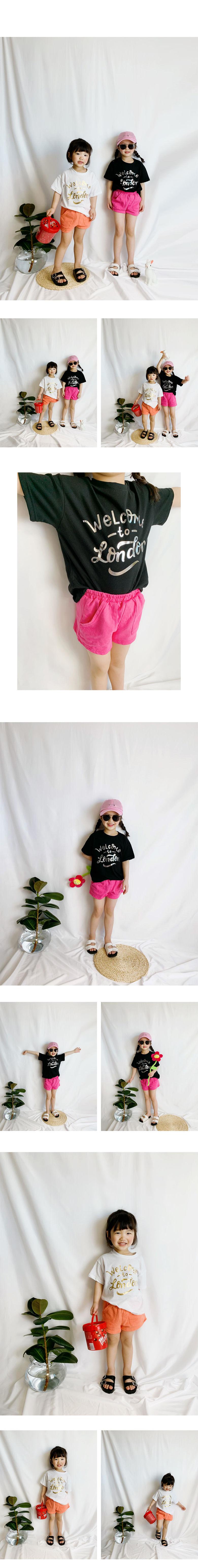 WHITESKETCHBOOK - Korean Children Fashion - #Kfashion4kids - London Hoyle Half Tee