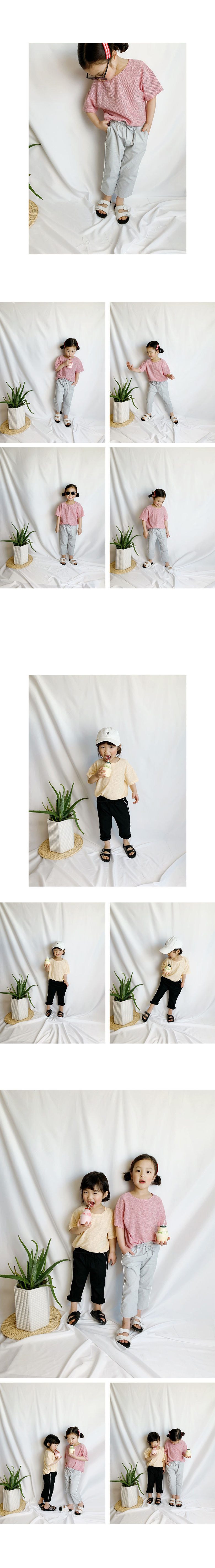WHITESKETCHBOOK - Korean Children Fashion - #Kfashion4kids - 8 Stripe Kids Tee