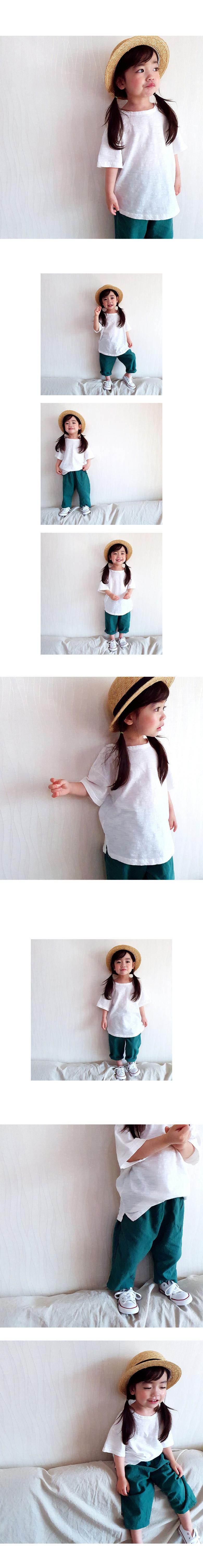 WHITESKETCHBOOK - Korean Children Fashion - #Kfashion4kids - Slave Cutting Tee - 2