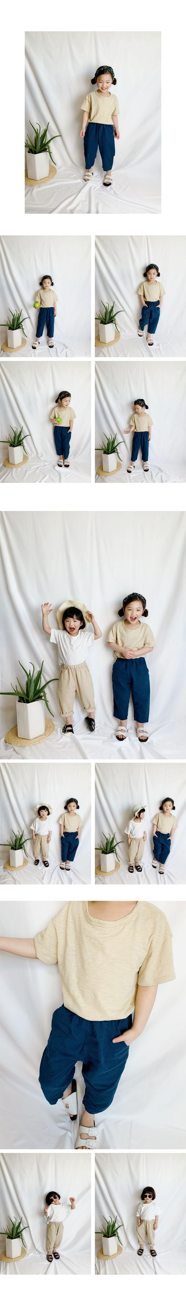 WHITESKETCHBOOK - Korean Children Fashion - #Kfashion4kids - Linen Baggy Pants