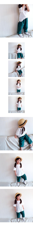WHITESKETCHBOOK - Korean Children Fashion - #Kfashion4kids - Linen Baggy Pants - 2
