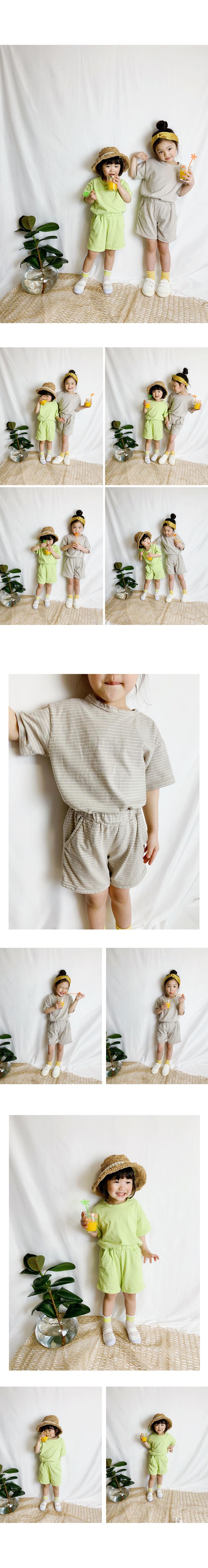 WHITESKETCHBOOK - Korean Children Fashion - #Kfashion4kids - Tori Stripe Set