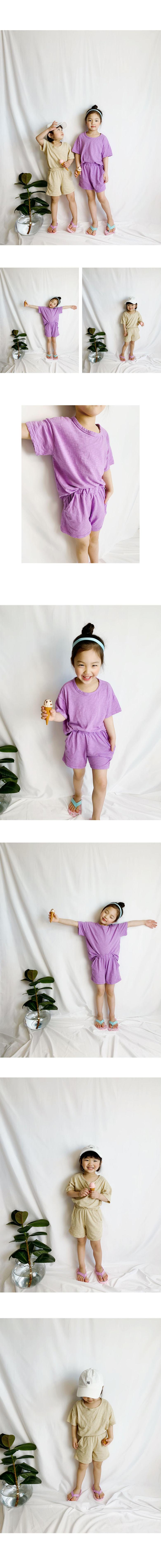 WHITESKETCHBOOK - Korean Children Fashion - #Kfashion4kids - Summer Simple Set
