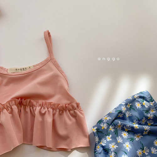 ANGGO - Korean Children Fashion - #Kfashion4kids - Macaron Swimwear with Hat - 6
