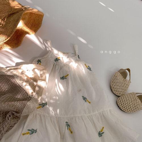 ANGGO - Korean Children Fashion - #Kfashion4kids - Papaya One-piece - 12