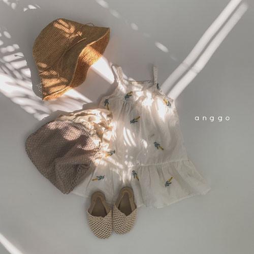 ANGGO - BRAND - Korean Children Fashion - #Kfashion4kids - Papaya One-piece