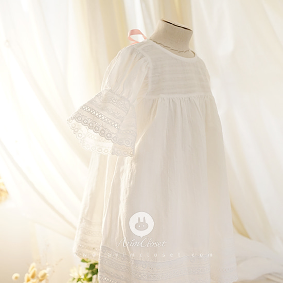 ARIM CLOSET - BRAND - Korean Children Fashion - #Kfashion4kids - Baby Pink Ribbon Romantic Dress