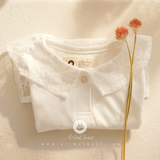 ARIM CLOSET - BRAND - Korean Children Fashion - #Kfashion4kids - Lovely Lace Sailor Pure Tee