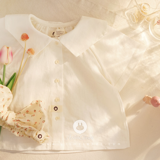 ARIM CLOSET - BRAND - Korean Children Fashion - #Kfashion4kids - Linen Cotton Sailor Baby Blouse