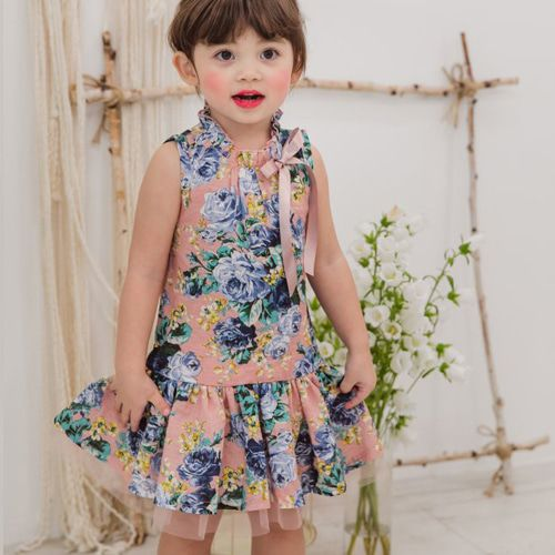 BABYZZAM - BRAND - Korean Children Fashion - #Kfashion4kids - Pure Rose Dress