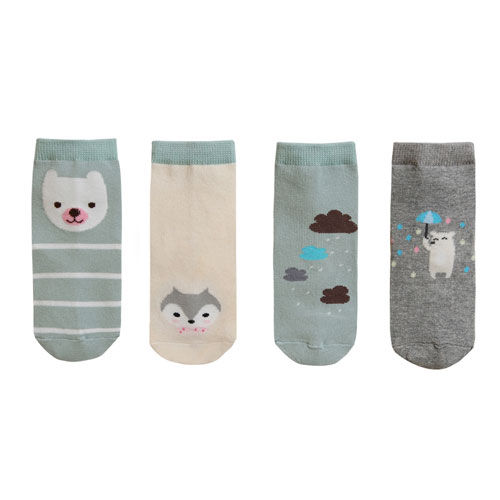 BEBECHAT - BRAND - Korean Children Fashion - #Kfashion4kids - Rain Mint Socks [set of 4]