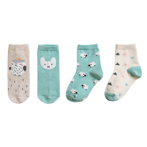 BEBECHAT - BRAND - Korean Children Fashion - #Kfashion4kids - Eden Mint Socks [set of 4]