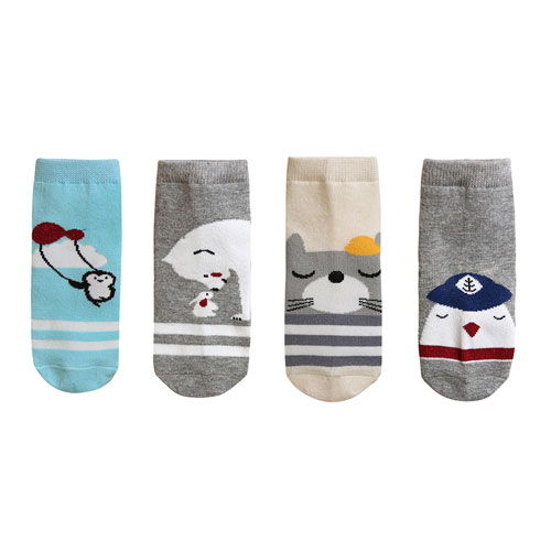 BEBECHAT - BRAND - Korean Children Fashion - #Kfashion4kids - Animal Sky Socks [set of 4]