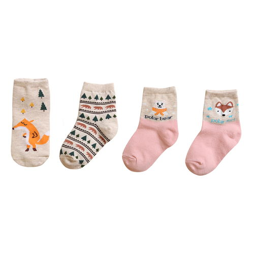 BEBECHAT - BRAND - Korean Children Fashion - #Kfashion4kids - Forest Pink Socks [set of 4]