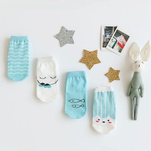BEBECHAT - BRAND - Korean Children Fashion - #Kfashion4kids - Dana Mint Socks [set of 4]