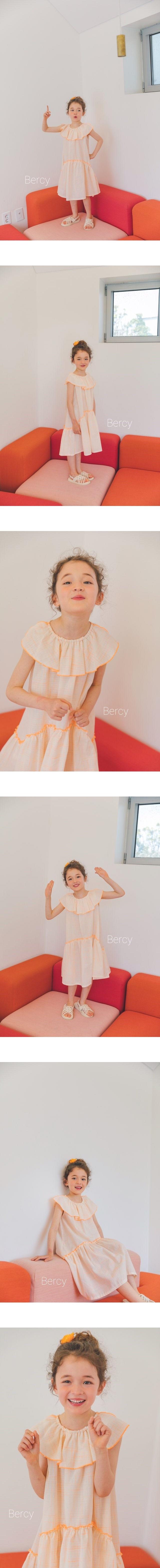 BERCY - Korean Children Fashion - #Kfashion4kids - Orange Dress