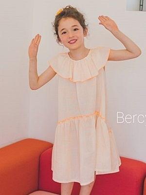 BERCY - BRAND - Korean Children Fashion - #Kfashion4kids - Orange Dress