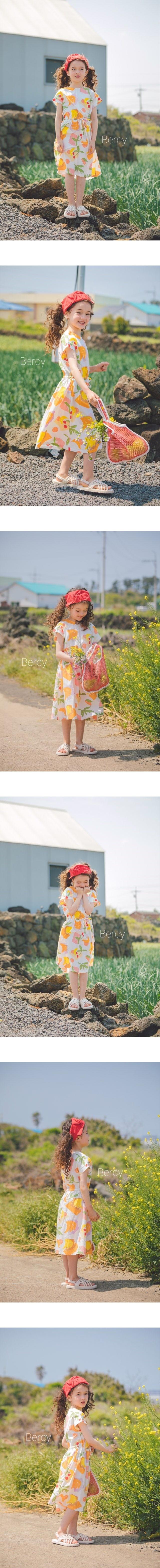 BERCY - Korean Children Fashion - #Kfashion4kids - Cherry One-piece