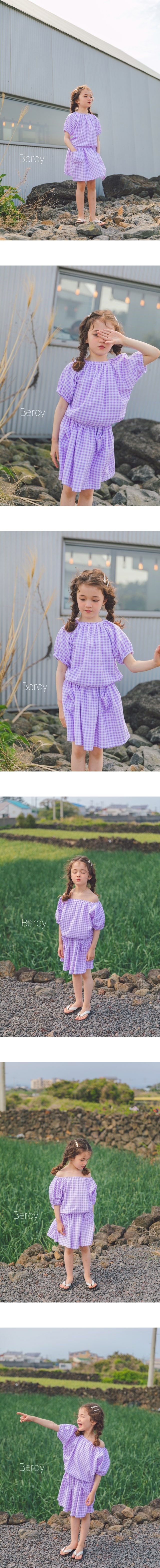 BERCY - Korean Children Fashion - #Kfashion4kids - Towel Top Skirt Set