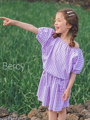 BERCY - BRAND - Korean Children Fashion - #Kfashion4kids - Towel Top Skirt Set