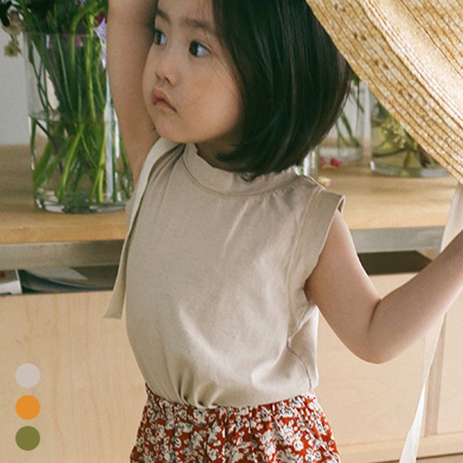 BIEN A BIEN - BRAND - Korean Children Fashion - #Kfashion4kids - Linen Single Sleeveless Top