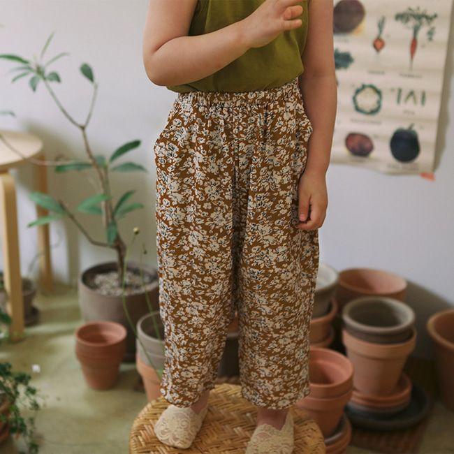 BIEN A BIEN - BRAND - Korean Children Fashion - #Kfashion4kids - Flower Baggy Pants