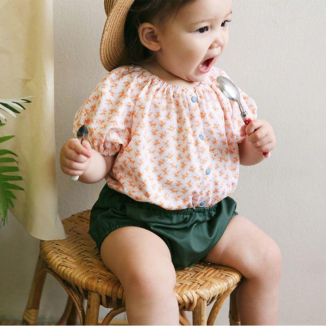 BIEN A BIEN - BRAND - Korean Children Fashion - #Kfashion4kids - Baby Button  Swimsuit